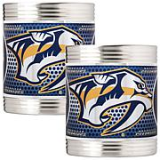 NHL Stainless 2-piece Can Holder Set - Predators