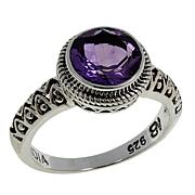 Nicky Butler 1.50ctw Amethyst Round Solitaire Textured Ring