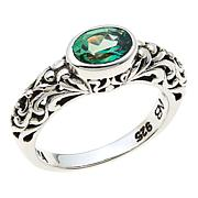 Nicky Butler Green Topaz East/West Oval Sterling Silver Band Ring