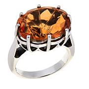 Nicky Butler Orange Quartz Triplet Oval Solitaire Ring
