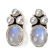 Nicky Butler Oval Gem Sterling Silver Button Earrings