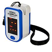North American Fingertip Oximeter with Lanyard