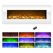 "Northwest 50"" Wall Mounted Electric Fireplace w/Color Change LED Flame"