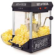 Nostalgia KPM220BK Vintage 2.5-oz Tabletop Kettle Popcorn Maker, Black