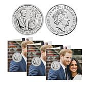 Official Prince Harry & Meghan Markle Royal Wedding BU Coin 3-pack