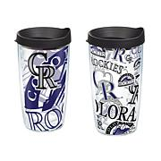 Officially Licensed MLB 16 oz. Tumbler Set - Colorado Rockies