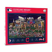 Officially Licensed MLB Joe Journeyman Jigsaw Puzzle-Cleveland Indians