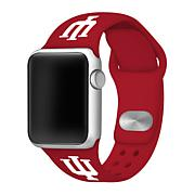 Officially Licensed NCAA42mm/44mm Silicone Apple Watch Band- Red