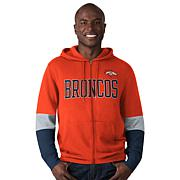 Officially Licensed NFL Colorblock Full-Zip Hoodie by Glll