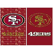 Officially Licensed NFL Double-Sided Glitter Flag - 49ers