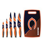 Officially Licensed NFL Knives & Cutting Board Set