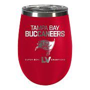 Officially Licensed NFL SuperBowl55 Champ Team Color Wine Tumbler Bucs