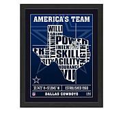 Officially Licensed NFL Team Pride Framed Art