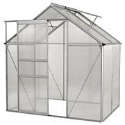 Ogrow Walk-In 6' x 4' Aluminum Greenhouse w/Sliding Door & Roof Vent
