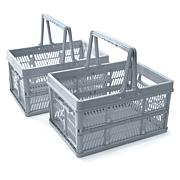Organizeme Set of 2 Folding Storage Baskets