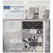"""Our Wedding Story 12"""" x 12"""" Scrapbook Page Kit"""