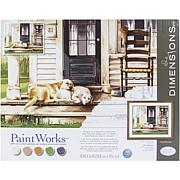 """Paint Works Paint By Number Kit 20"""" x 16"""" - Lazy Dog Day"""