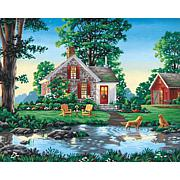 """Paint Works Paint By Number Kit 20"""" x 16"""" -Summer Cottage"""