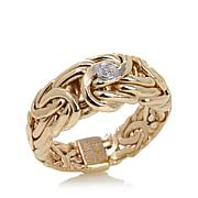 Passport to Gold Diamond-Accented 14K Byzantine Ring