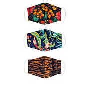 Patricia Nash 3-pack Reusable 4-Layer Printed Face Coverings