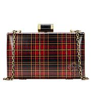 Patricia Nash Alora Tartan Leather Frame Clutch