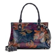 Patricia Nash Angela Leather Peruvian Painting Satchel