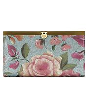 Patricia Nash Cauchy Crackled Rose Garden Leather Wallet