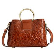 Patricia Nash Empoli Leather Metal Ring Satchel
