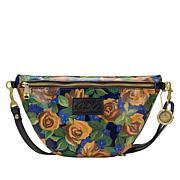 Patricia Nash Tinchi Leather Convertible Belt Bag/Crossbody Sling Bag