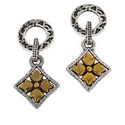 Patricia Nash Two-Tone Circle and Floret Drop Earrings