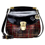 Patricia Nash Veneto Leather Tartan Plaid Crossbody Bag