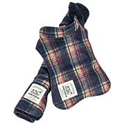 Pet Life 2-in-1 Tartan Dog Jacket with Reversible Dog Mat