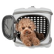 Pet Life Circular Perforated Hard Shell Collapsible Pet Carrier