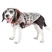 Pet Life Luxe Furracious Cheetah Patterned Faux Mink Dog Coat