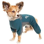 Pet Life MD 4-Way-Stretch Breathable Full Body Dog Warmup Track Suit