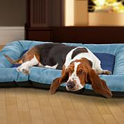 "PETMAKER 43"" x 29"" Plush and Cozy Pet Bed - Blue"