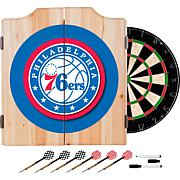 Philadelphia 76ers NBA Wood Dart Cabinet Set