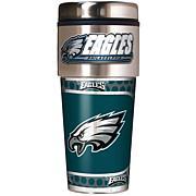 Philadelphia Eagles Travel Tumbler w/ Metallic Graphics and Team Logo