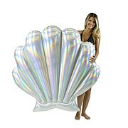 """PoolCandy Holographic Collection Giant Seashell Float 61"""" x 53.5"""""""