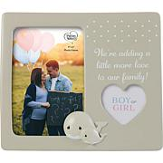 Precious Moments 202409 Whale Gender Reveal Photo Frame