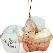 Precious Moments Baby Boy's First Christmas 2018 Ornament