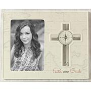 Precious Moments Faith Is My Guide Ceramic And Wood Photo Frame