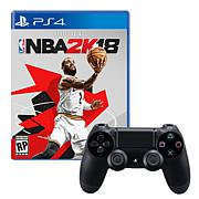 PS4 Wireless DualShock 4 Controller with NBA 2K18 Game
