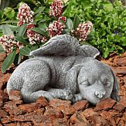 Pure Garden Pet Memorial Keepsake Statue - Sleeping Angel Dog