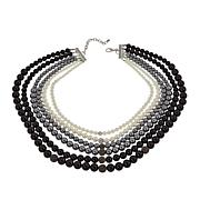 Rara Avis by Iris Apfel Simulated Pearl 6-Row Necklace