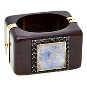 Rarities 63.75ctw Gem and Black Spinel Wooden Bracelet