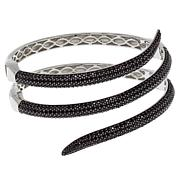 "Rarities 7.68ctw Black Spinel Metal Coil 7"" Bracelet"