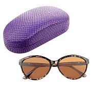 Rarities Brittany Brown Sunglass Readers with Case and Cloth