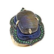 Rarities Labradorite and Gem Vermeil Ring