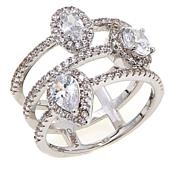Real Collectibles by Adrienne® 3-Row Ring